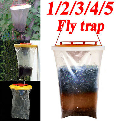1/2/3/5 Packs FLY TRAPS CATCHERS THE ULTIMATE FLY CATCHER INSECT TRAP KILLER FO1