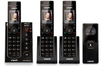 VTech IS7121-2 + (1) IS7101 3 Handset Cordless Video Phone w/ HD Voice Doorbell