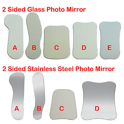 2 Sided Glass / Stainless Steel Photo Mirror Dental Intra Oral Photographic