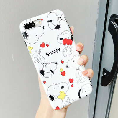 Cute Snoopy Cartoon TPU Silicone IDM Phone Case Cover For iPhone X 8 7 6/6S Plus