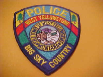West Yellowstone Montana Police Patch Shoulder Size Unused