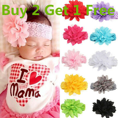 Big Baby Girls Hairband Soft knot Elastic Band Headband Flower Hair