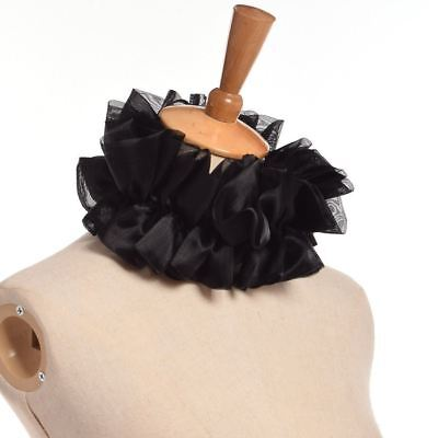 1pc Victorian Ruffled Collar Adjustable Unisex Detachable Collar 2 Colors