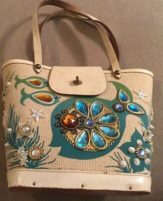 Vintage Enid Collins of Texas Gifts From The Sea Basket Purse Handbag