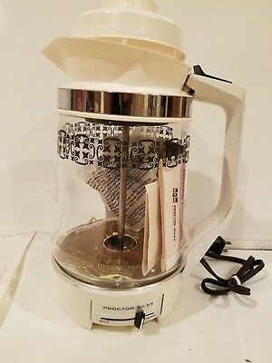 Vintage Proctor Silex SCM 12 Cup Glass Electric Percolator Model P234W