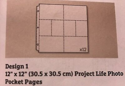 Project Life By Becky Higgins For Stampin Up Photo Pockets Design 1