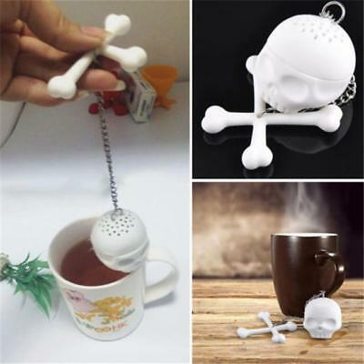 Silicone Bones Skull Tea Infuser Spice Diffuser Filter Loose Tea Leaf BS