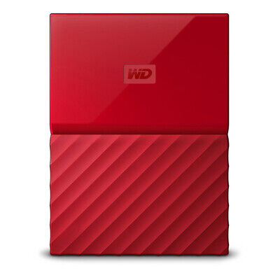 WD My Passport Portable Hard Drive HDD 2TB - Red