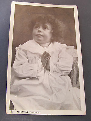 Antique TUCK's postcards of Happy Childhood series - Morning Prayer Post Melb