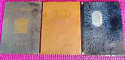 Lot Of 3 Vintage The Volcano High School Yearbooks Hornell N.Y. Years 24,28,29