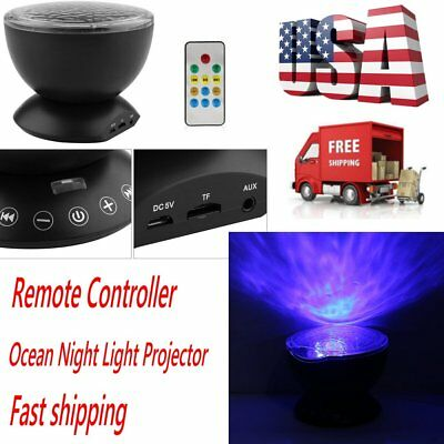 Romantic Projection Night Lights Ocean Wave Projector LED Light Lamp Set Gift TB