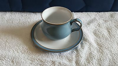 Denby Colonial Blue - Cup and Saucer Set  excellent condition.