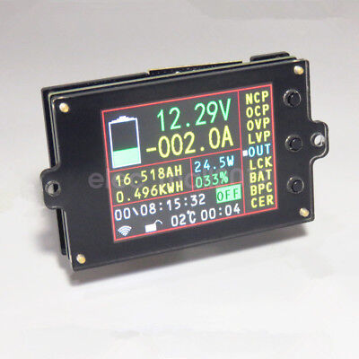 Wireless Multimeter 120VDC 100A 500A Voltmeter Ammeter Power Capacity Time Meter
