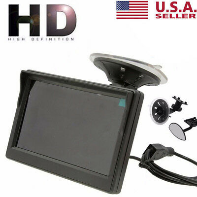 "5""800*480 TFT LCD HD Screen Monitor For Car Rear Reverse Rearview Backup Camera"