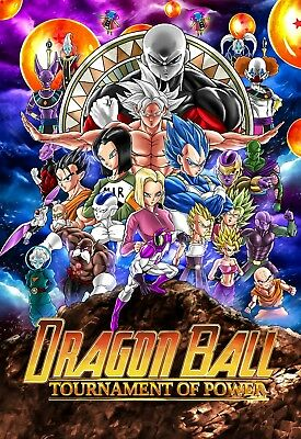 "2018 Dragon Ball Super Tournament Of Power Movie Poster 27x40"" Anime Goku Print"
