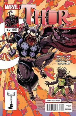 Thor #2 (Vol 4) Rocket Raccoon & Groot Variant