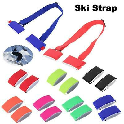 Ski Pole Shoulder Hand Carrier Lash Handle Buckle Strap Hook Loop Easy Carry GL