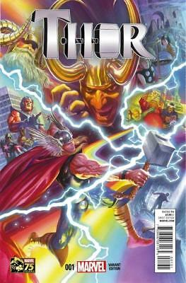 Thor #1 (Vol 4) 1:75 Variant by Alex Ross 1st Female Thor