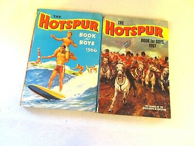 Vintage editions of The Hotspur Book for Boys 1966 and 1967