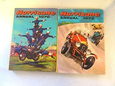 Vintage editions of The Hurricane Annual 1970 and 1972