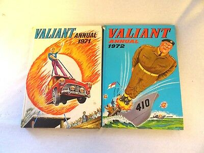 Vintage editions of The Valiant  Annuals 1971 and 1972