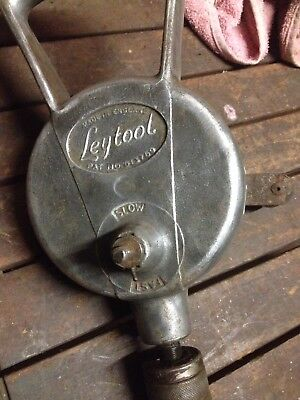 Vintage Hand Drill Ley Took England Collectable Hand Tool REDUCEF