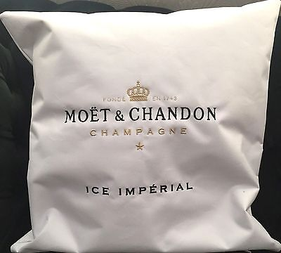 MOET CHANDON ICE IMPERIAL CHAMPAGNE OUTDOOR WHITE CUSHION BRAND NEW 40x40CMS
