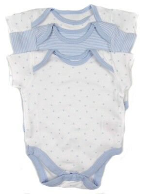 Baby Boys Vests Pack Of Three up to 1 Month