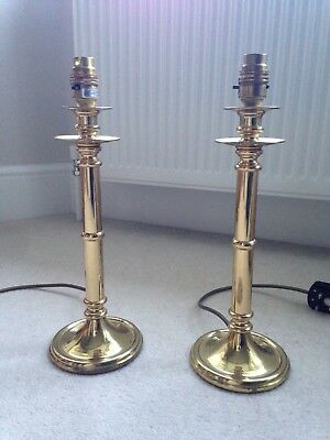 Pair Of Brass Bedside Table Lamps Made In England 1998 Antique Style