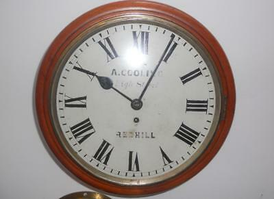 "Antique 12"" Fusee Dial Clock Marked ""a Cooling, High Street, Redhill"