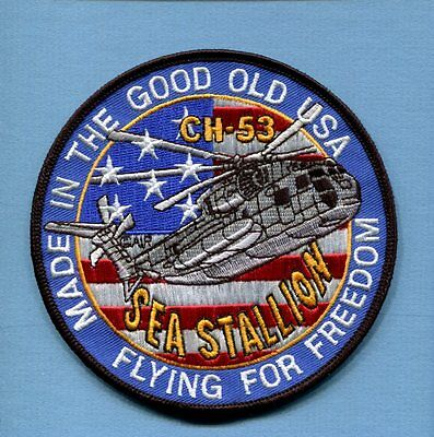 SIKORSKY CH H-53 SEA STALLION USMC US Navy Helicopter Squadron Jacket Patch