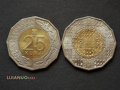 2016 Kroatien Croatia 25 Kuna 25th Anniversary of Independence Bi-Metallic Coin