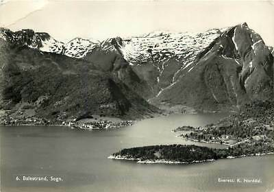 NORWAY Balestrand, Sogn, Real Photo Vintage Postcard by K. Norddal Posted 1955