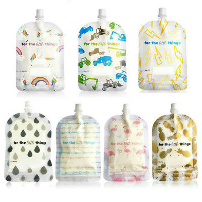 Sinchies 150ml top spout reusable food pouches pack of 5 Many Styles Free Post