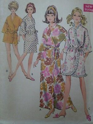 Vintage 1960s Style Kimono Robe Dressing Gown Sewing Pattern #2318 Bust 38-40""