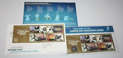 Royal Mail - Welcome To London 2012 Paralympic Games - Presentation Pack & FDC