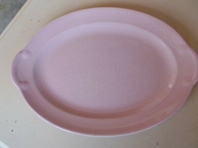"Vintage Pale Pink Lu-Ray Pastels Made USA #947 12"" Serving Platter"