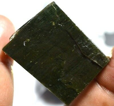 109.60 Ct Natural African Green Serpentine Untreated Specimen FACET SLAB