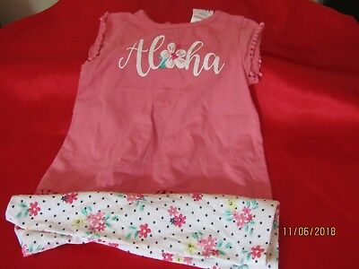 Baby Girls Summer Aloha Outfit.