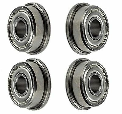 4-PIECES F608-ZZ Ball Bearing 8x22x7mm, Flange Shielded Deep Groove Best Quality