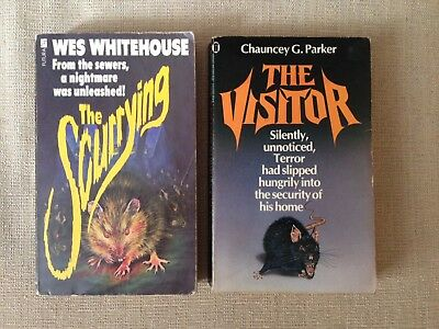 Rats horror pulp novels x2 The Visitor The Scurrying