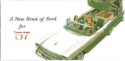1957 Ford fairlane 500 - retactable roof  - FULL COLOR BROCHURE