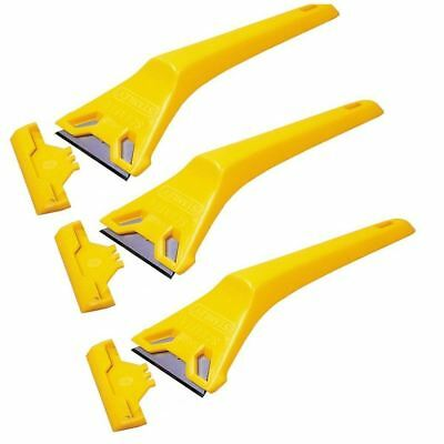 3 x Stanley Window Scraper 0-28-590