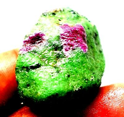 183 Ct Natural Untreated Ruby Zoisite Bicolor Rough Gemstone