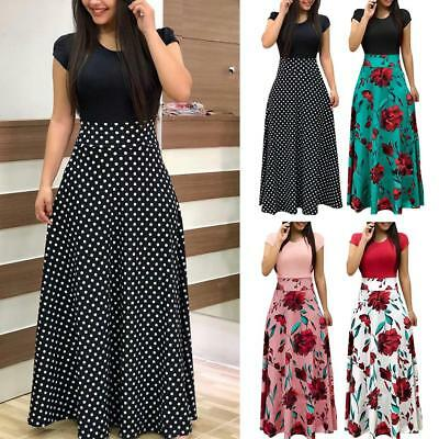 Women's Summer Boho Long Maxi Evening Cocktail Party Floral Beach Dress Sundress