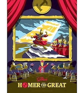 The Simpsons: Homer the Great Variant Silkscreen Print by Florey