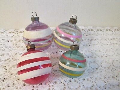 Vintage Unsilvered Glass Ornaments