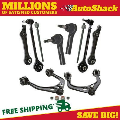10pc Front Suspension Kit: Tie Rod + Sway Bar + Control Arm fits Chrysler Dodge