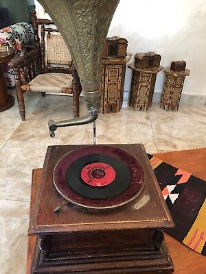 antique phonograph record player