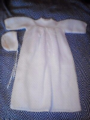 Vintage Baby christening gown  with bonnet. size 00.